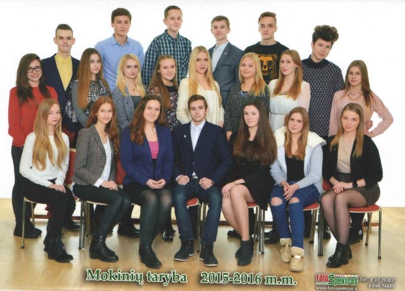 mokiniu taryba 2015-2016